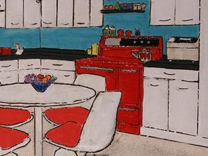 Kitschy Mid-Century Kitchen