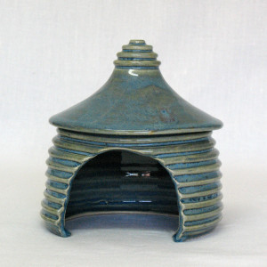 Swirling Blue Toad House